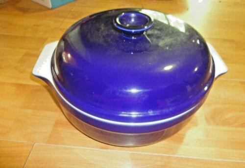 Emile Henry Blue 4 qt Caserole Dish For Oven - EUC