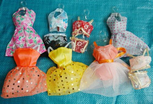 "Fashion 25P(10Small formal attire+10 shoes + 5 hangers) for 11.5"" Doll Clothes"