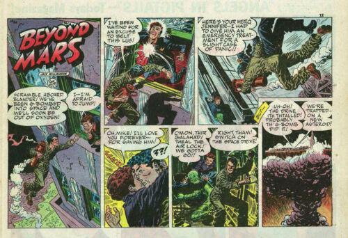 Beyond Mars by Lee Elias - scarce half-tab page Sunday comic - December 12, 1954