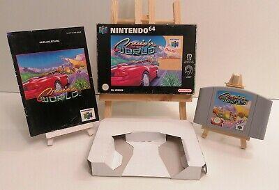 Nintendo 64 Gioco Cruis 'N World Scatola Originale con Istruzioni Pal N64 Alto