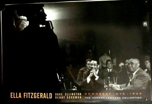 "Ella Fitzgerald, Downbeat.NYC.1949, Vintage Poster.24x90""  FREE INT.SHIPPING"