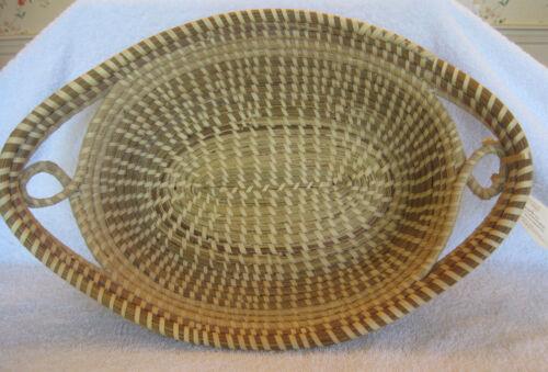 Charleston Sweetgrass Bread Basket, Signed