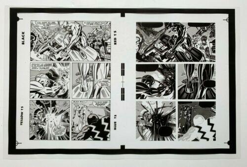 Production Art SILVER SURFER #18, pg. 17 w/ negative, JACK KIRBY art, 11x17