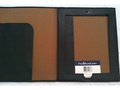 Ralph Lauren Apple iPad Leather Panel Case~Hunter Green Color in Strong point Box~NWT