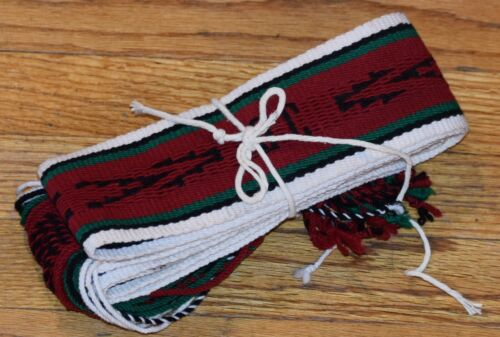 TIGHT WEAVE TRADITIONAL SASH BELT/BLACK,BLACK,GREEN,RED FREE SHIPPING