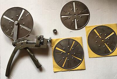 Curtis Industries Model 14 Key Cutter Wheels Dies Case