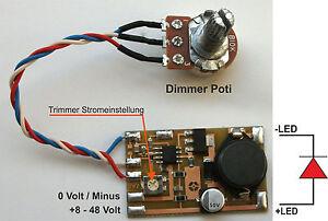 KSQ, Konstantstromquelle, LED-Treiber 0-1.200mA, inkl. Dimmer, PWM dimmbar