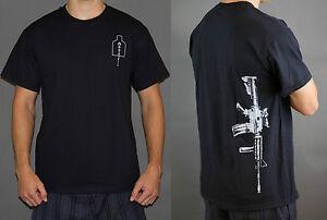Custom-Military-Colt-M4-w-Acog-T-shirt-5-56mm-Rifle-Magpul-grip-S-M-L-XL-2X