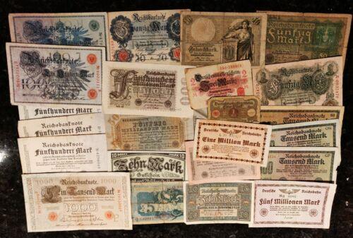 Mixed Lot of 23 German Banknotes 1918 -1924 Lot L3