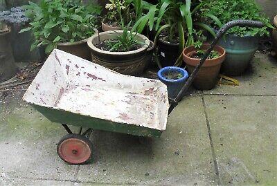 Original Vintage Quality Metal Small / Child's Wheelbarrow / Trolley. WIRRAL