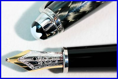 MONTBLANC Meisterstück Fountain Pen STEEL & CARBON 144 cartridge MASTERPIECE