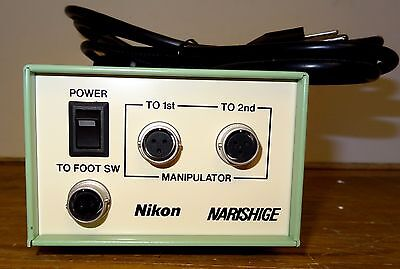 Nikon Narishige Mnipulator Footswitch Power Supply Control Unit