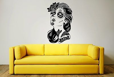 DAY OF THE DEAD WOMAN Wall Art Sticker, Decal, Mural, Stylish Modern