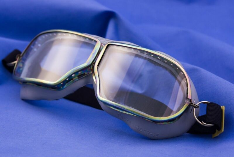 ORIGINAL OLD RARE VINTAGE SOVIET USSR AVIATOR PILOT GLASSES GOGGLES in ORIGINAL
