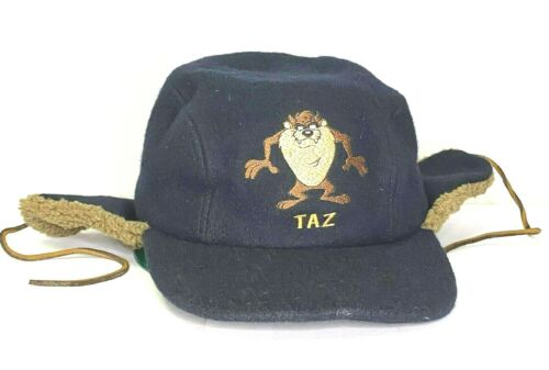 Warner Bros Studio Store Taz Tasmanian Devil Blue Hat Vintage 1995 Wool Blend