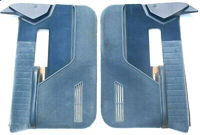 88-94 Chevy Truck GMC Sierra Silverado Blazer Door Panels BLUE Oem Trim Bezel