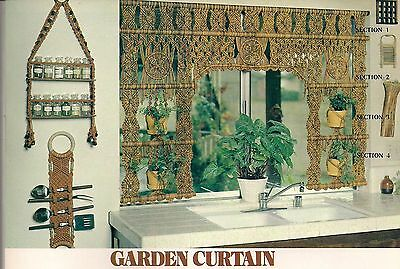 Vintage Garden Curtain Pattern - Craft Book: #GM2 Macrame with a Purpose