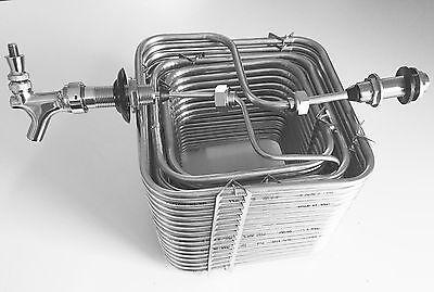Build Your Kegerator Beer Jockey Box Keg Single Faucet Draw 120 Coil Tap Handle