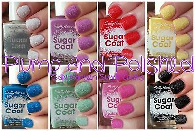 Sally Hansen Sugar Shimmer Textured Nail Color Pink Blue Green Mint Cinny - Mint Blue Color