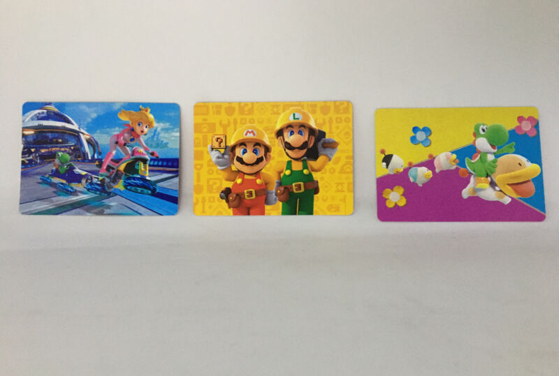 My Nintendo Commemorative Cold Stone Creamery Cards (unscratched Game Expired)