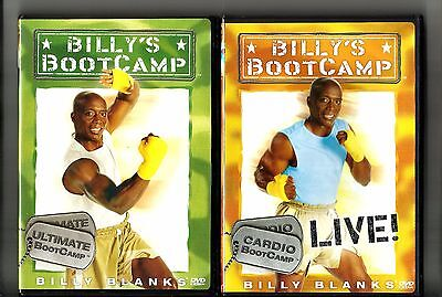 2 BILLY BLANKS DVD Cardio Live & Ultimate Boot Camp: Exercise DVD Lot