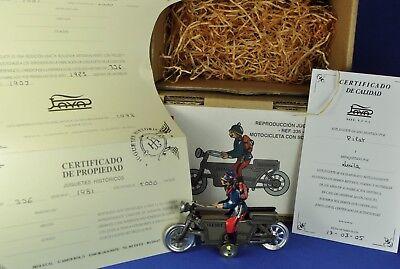 Blech / Tin: Paya Motorrad / Motorcycle motocicleta soldado, I-336, Replica 2005