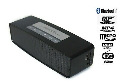 altavoz Bluetooth Speaker music RC-1012BT USB FM Negro