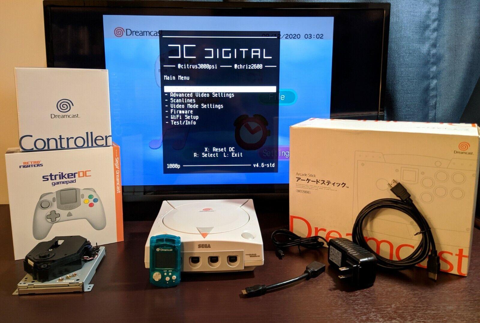 Dreamcast DCHDMI DCDIGITAL, GDEMU, NOCTUA, DreamPSU, 128GB SD CARD, AND MORE  - $799.95