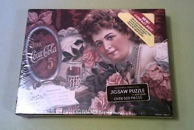 Coca Cola PUZZLE--Over 500 Pieces--A Sentimental Sweetheart (1985) Unopened