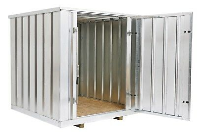 Galvanized Steel Storage Shed Container6.5 Ft Wide X 7 Ft Long X 7.25 Ft High