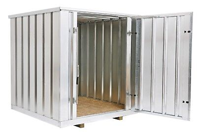 Galvanized Steel Storage Shed (Container),6.5 ft wide x 7 ft long x 7.25 ft high