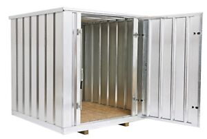 Galvanized Steel Storage Shed (Container),6.5 Ft Wide X 7 Ft Long X