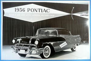 12 by 18 black white picture 1956 pontiac 2 door hardtop for 1956 pontiac 2 door hardtop