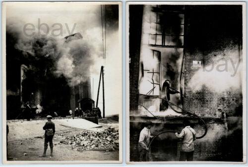 Halifax Explosion Canada 1917 Firefighters & Building Original WW1 Press Photos