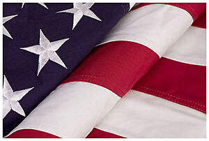 American Cotton  Flag 5ft x 9 1/2 ft