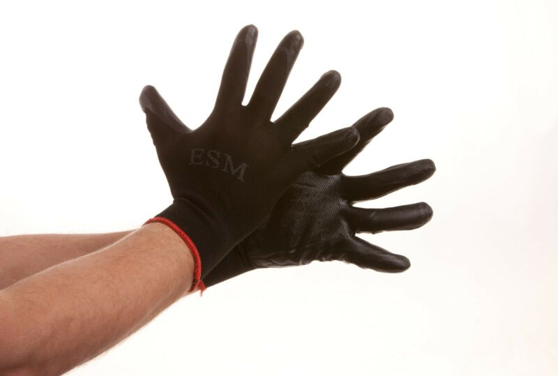 600 Pairs bale Premium Tough Nitrile Palm Work Gloves M L XL