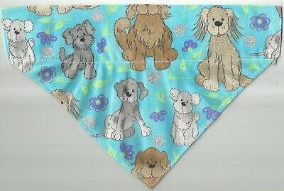 Large Dog/Cat  Scarf/ Bandana/ Spring/Blue w/dogs print!!!!!!