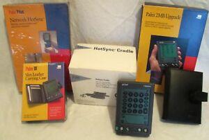 """""""Vintage"""" Palm Pilot & accessory collectables set."""