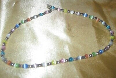 Multi Color Beads Necklace (Multi-color Cats Eye Beaded Necklace)