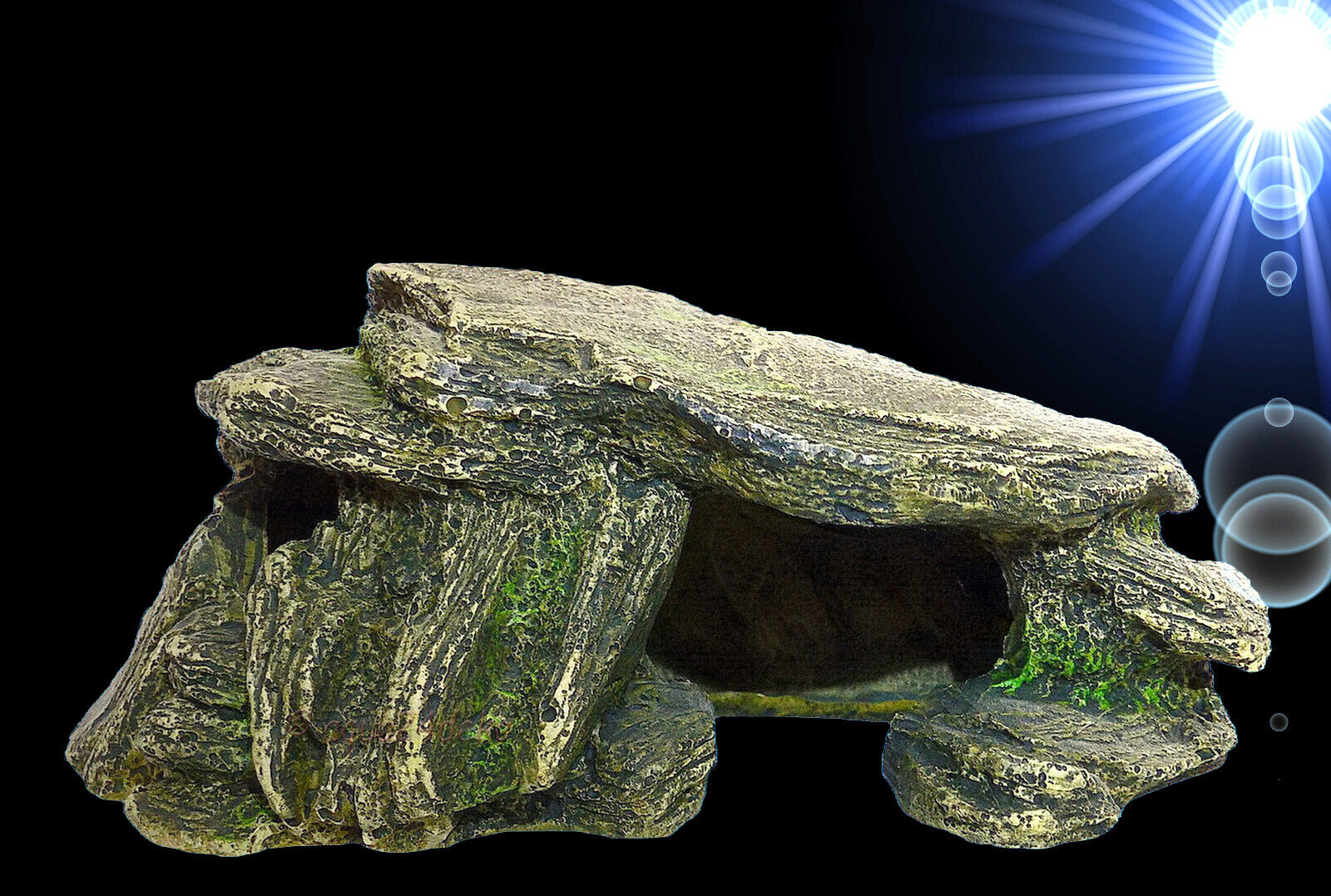 TOP Aquarium Deko 🍀 HÖHLE 🍀 Felsen Barsche Terrarium Zubehör Steine Dekoration
