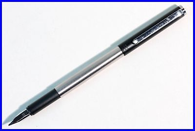 Triple Star MONTBLANC SL fountain pen in BLACK & STAINLESS STEEL german design