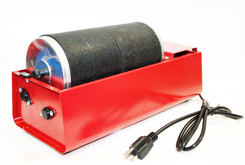 Electric Rotary Rock Tumbler Double Drum 6LB Lapidary Polisher