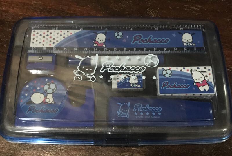 Vintage Sanrio Pochacco Pencil Case School Box And Accessories RARE