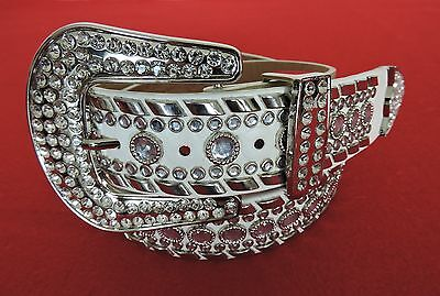 White Ladies Western  Bling Rhinestone -