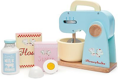Le Toy Van HONEYBAKE MIXER SET Traditional Whisk Role Play Kitchen Cook BN