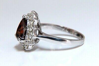 GIA Certified 1.47ct Natural Fancy Orange Brown Diamond Halo Ring  14 Karat 2