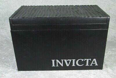 Invicta 20 Slot Watch Storage Case Black Collectors Box 14 x 8.5 inch IPM129