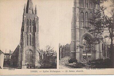 CPA - Belgique - Ieper - Ypres - Eglise St-Jacques