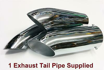 Sports Road 36mm-51mm Chrome Plated Steel Curved Ended Exhaust Tail Pipe Car Van
