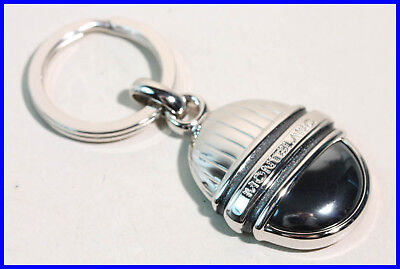Montblanc Masterpiece Hematite & Platinum 3 Rings Onyx Key Ring with Box - Mont Blanc Platinum Key Ring